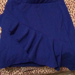Blue skirt with ruffles